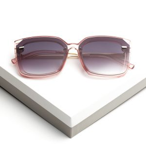 Cat Eye Antique Pink Oversized Sunglasses