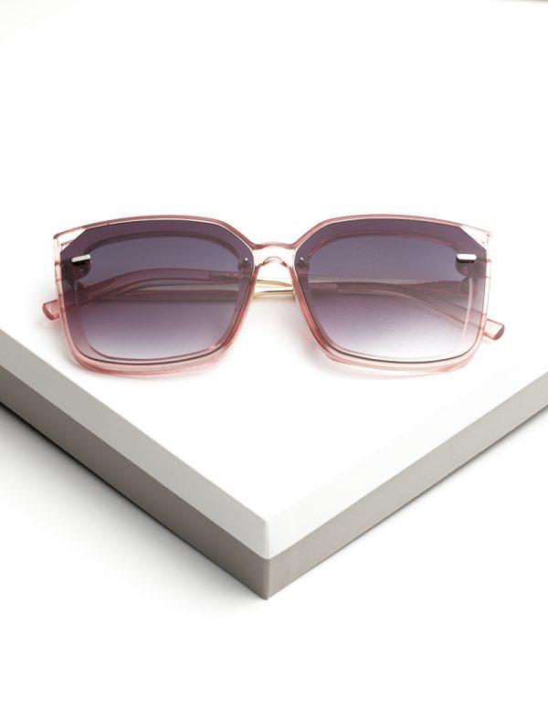 Callel Antique Pink Oversized Sunglasses
