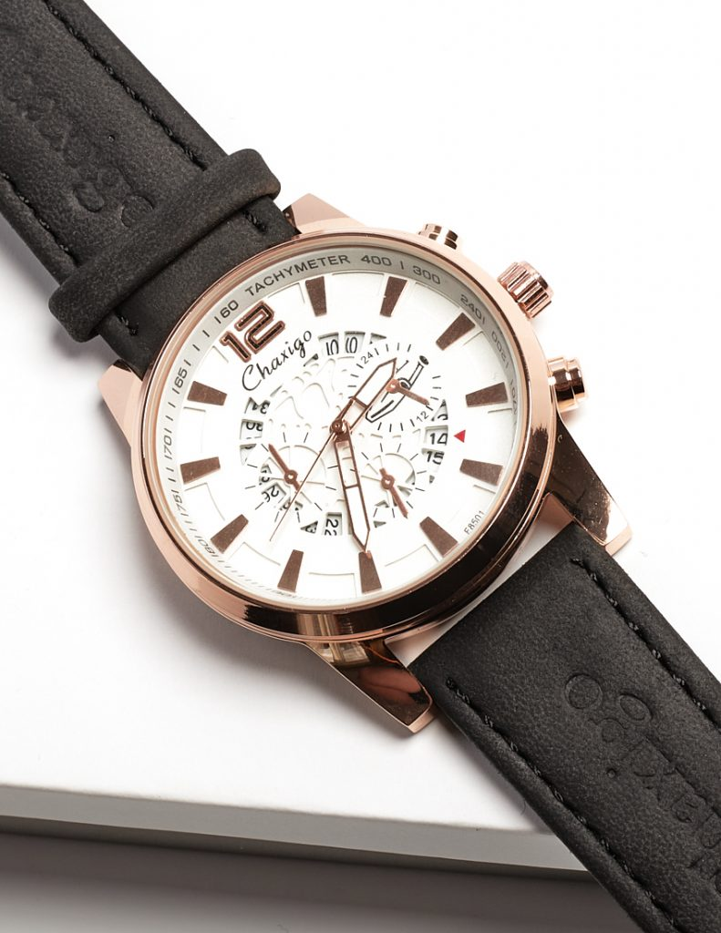 Callel Chaxigo Rose Gold Face Mens Watch