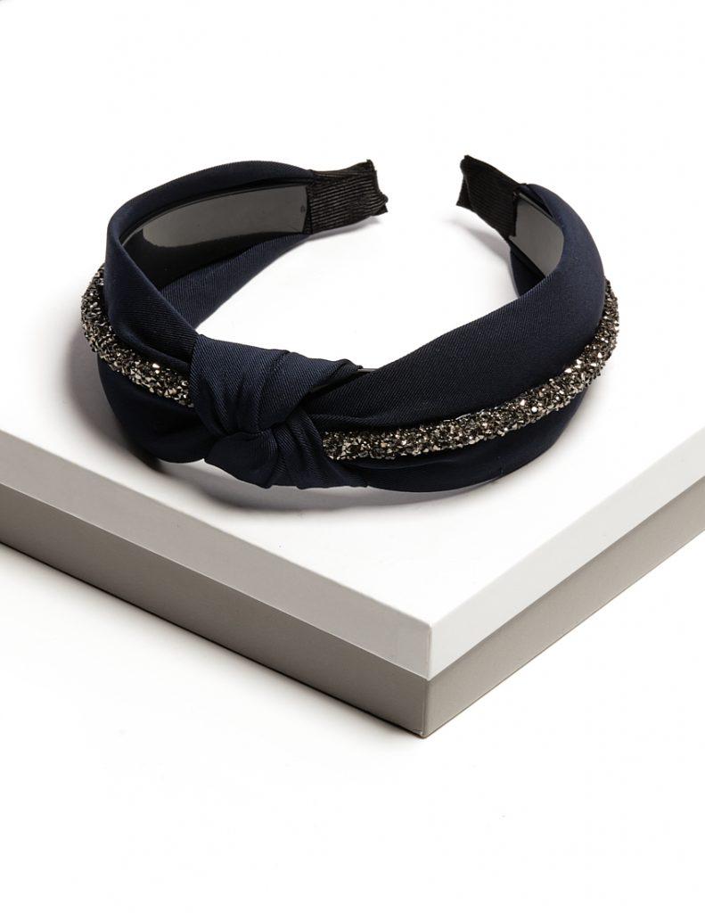 Callel Dark Blue Knotted Headband