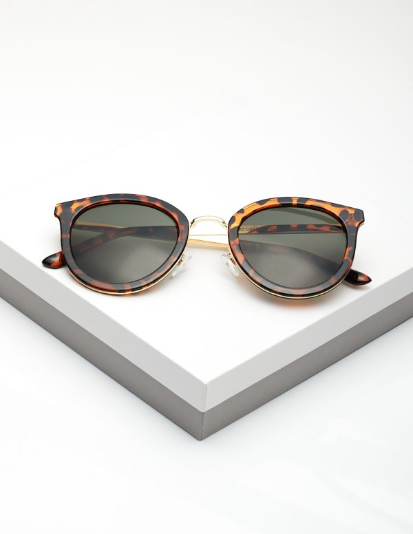 Callel Cat Eye Leopard Print Sunglasses