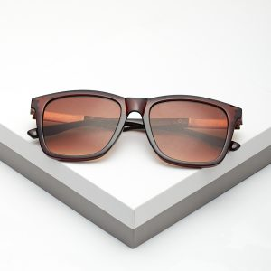 Callel Brown Angled Sunglasses