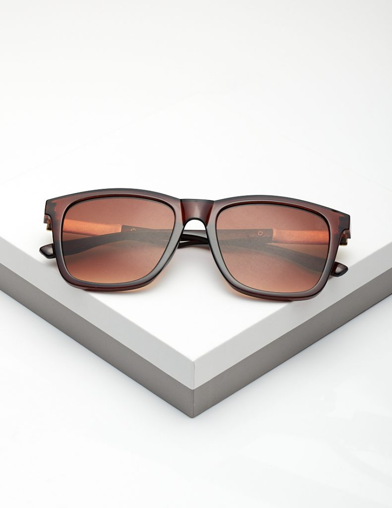 Callel Brown Angled Sunglasses