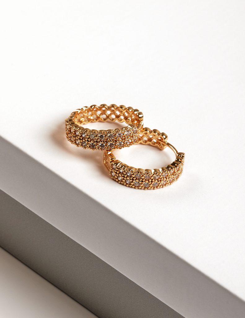 Callel 24K Gold Huggie Hoop Earrings