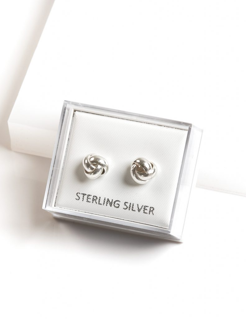 Callel 925 Sterling Silver Knot Stud Earrings