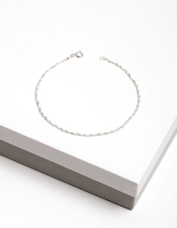 Callel 925 Sterling Silver Twisted Chain Bracelet