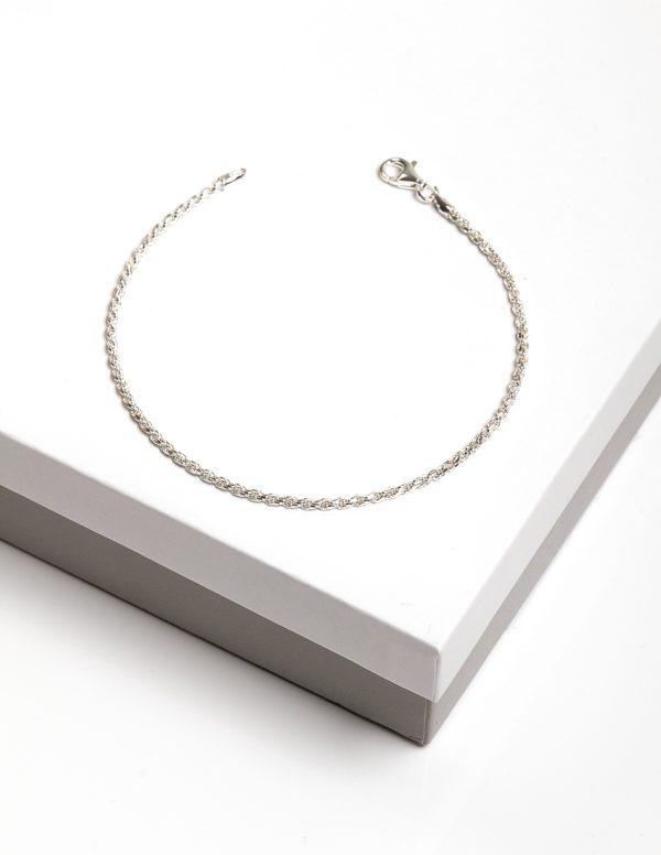 Callel 925 Sterling Silver Rope Chain Bracelet