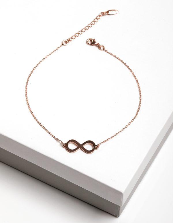Callel Rose Gold Infinity Bracelet