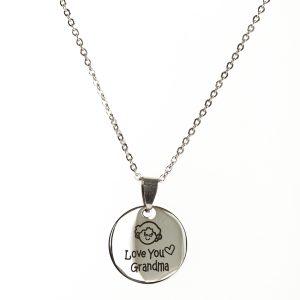 I Love you Grandma Pendant Necklace