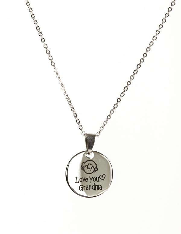Callel I love you grandma pendant necklace
