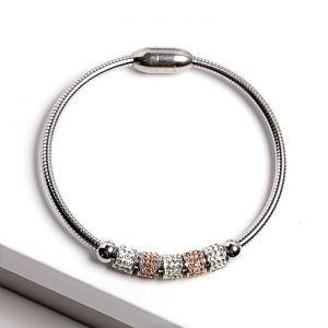 Silver Cubic Zirconia Charms Bracelet