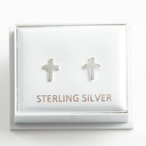 925 Sterling Silver Cross Stud Earrings