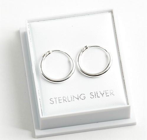 Callel 925 Sterling Silver Classic Sleeper Hoop Earrings