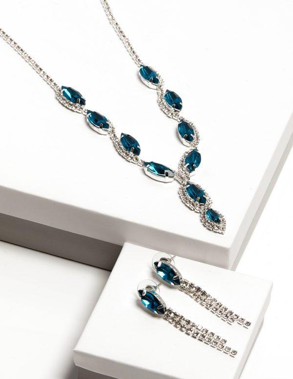 Callel Crystal Earrings & Necklace Jewellery Set