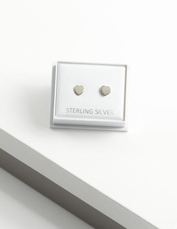 Callel 925 Sterling Silver Heart Stud Earrings