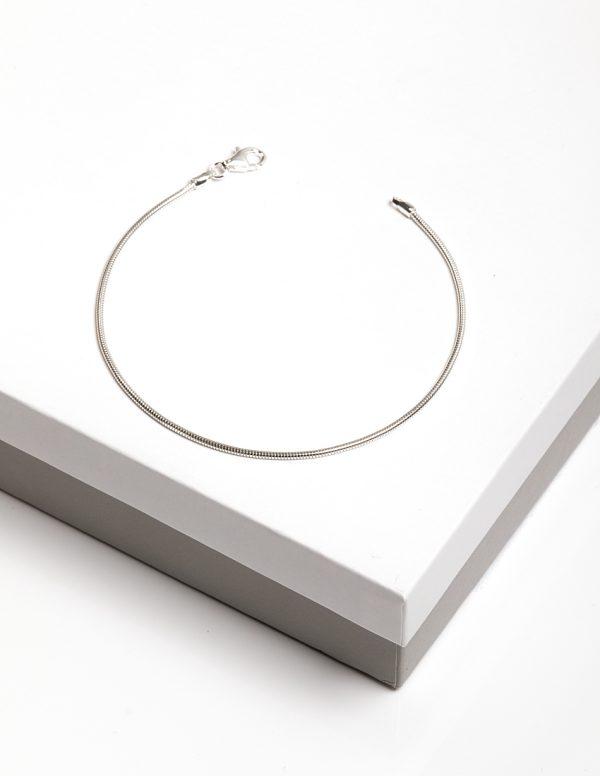 Callel 925 Sterling Silver Snake Chain Bracelet