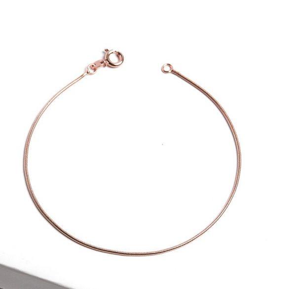 Callel Rose Gold Snake Chain Bracelet