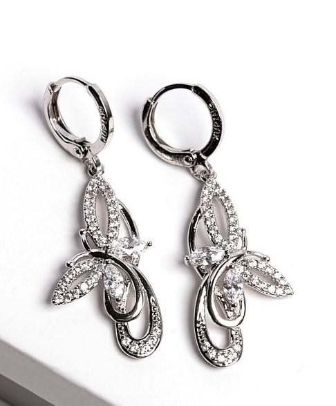 Callel Silver Cubic Zirconia Butterfly Earrings