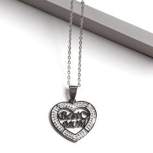 Best Mum Heart Pendant Necklace