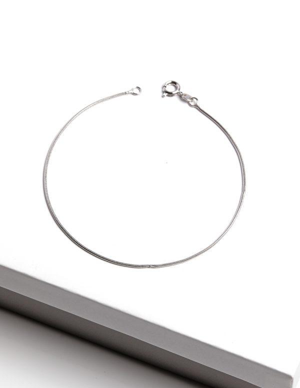 Callel Silver Snake Chain Bracelet