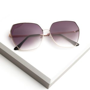 Purple Oversized Octagon Sunglasses