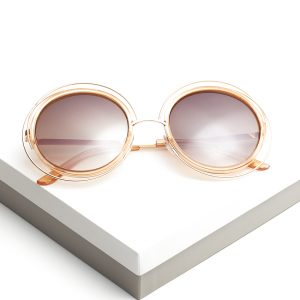 Cut-out Detail Round Sunglasses