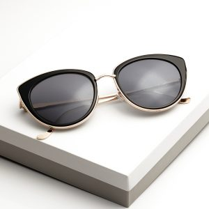Black Iridescent Cat Eye Sunglasses