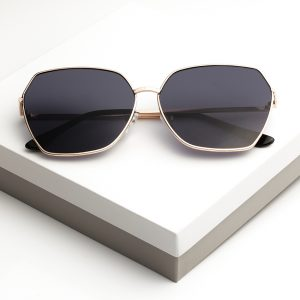 Black Oversized Octagon Sunglasses
