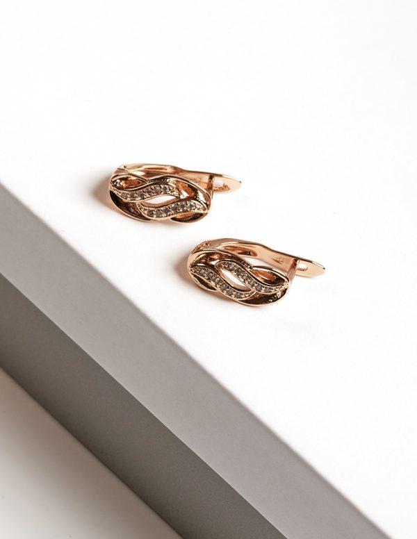 Callel 18K Gold Cubic Zirconia Latch Back Earrings