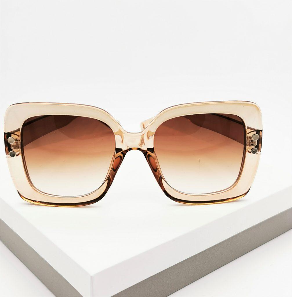 Callel Brown Oversized Sunglasses