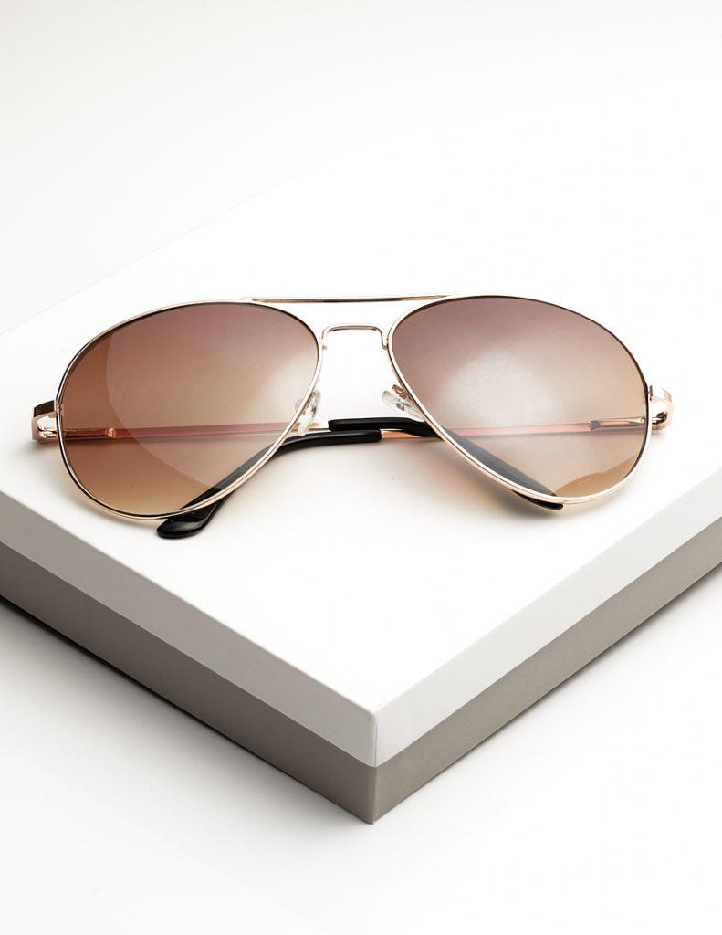 Callel Gold Arm Sunglasses