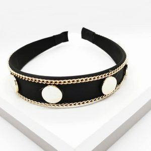 Gold Coin Chain Knotted Headband