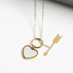Heart & Arrow Pendant Necklace