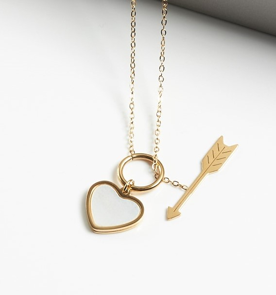 Callel Gold Heart & Arrow Pendant Necklace