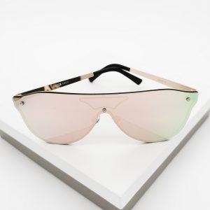 Pink Mirror Flat Top Shield Sunglasses