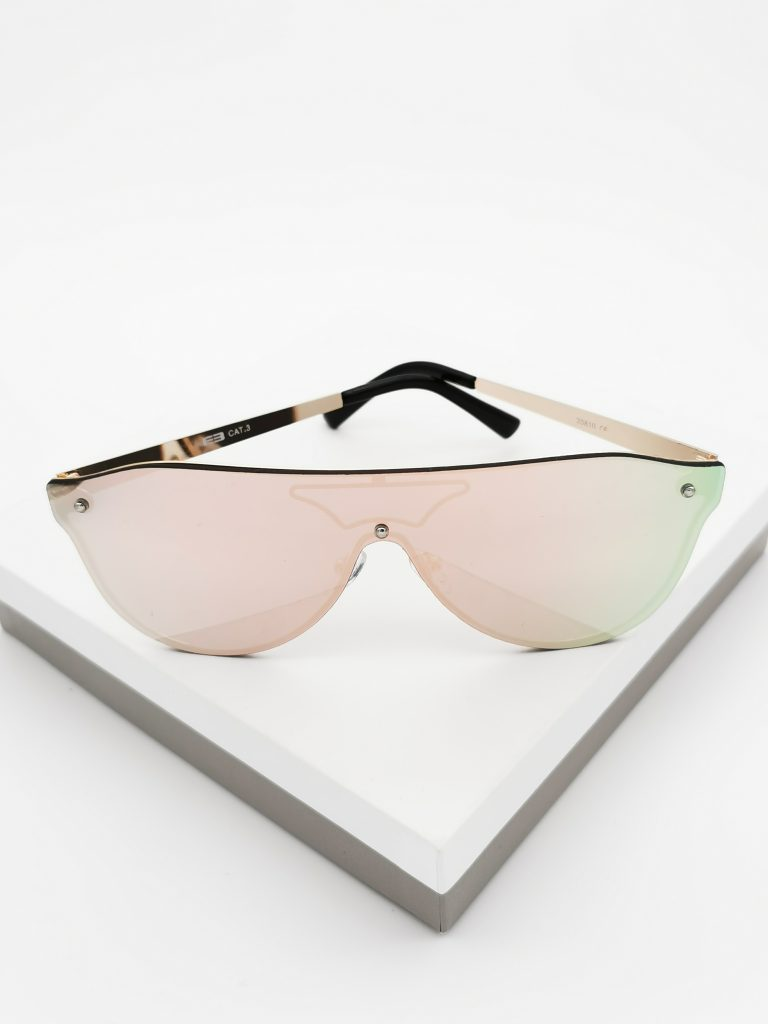 Callel Pink Mirrored Flat Top Sunglasses