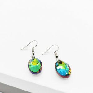 Multicoloured Crystal Hook Earrings
