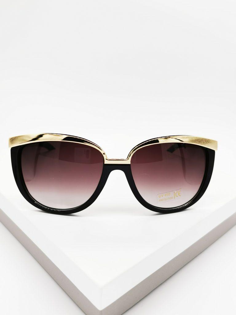 Callel Black & Gold Cat Eye Sunglasses