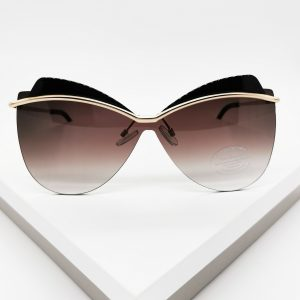 Black Oversize Celebrity Sunglasses