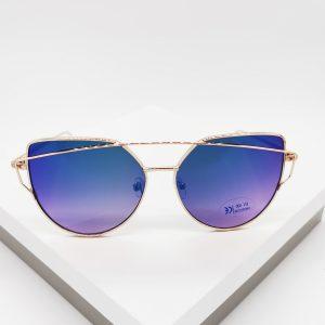 Cat Eye Blue Lens Vintage Sunglasses