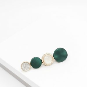 Gold & Green Hair Slide