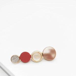 Gold & Red Hair Slide