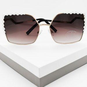 Zig Zag Blaack Square Frame Sunglasses