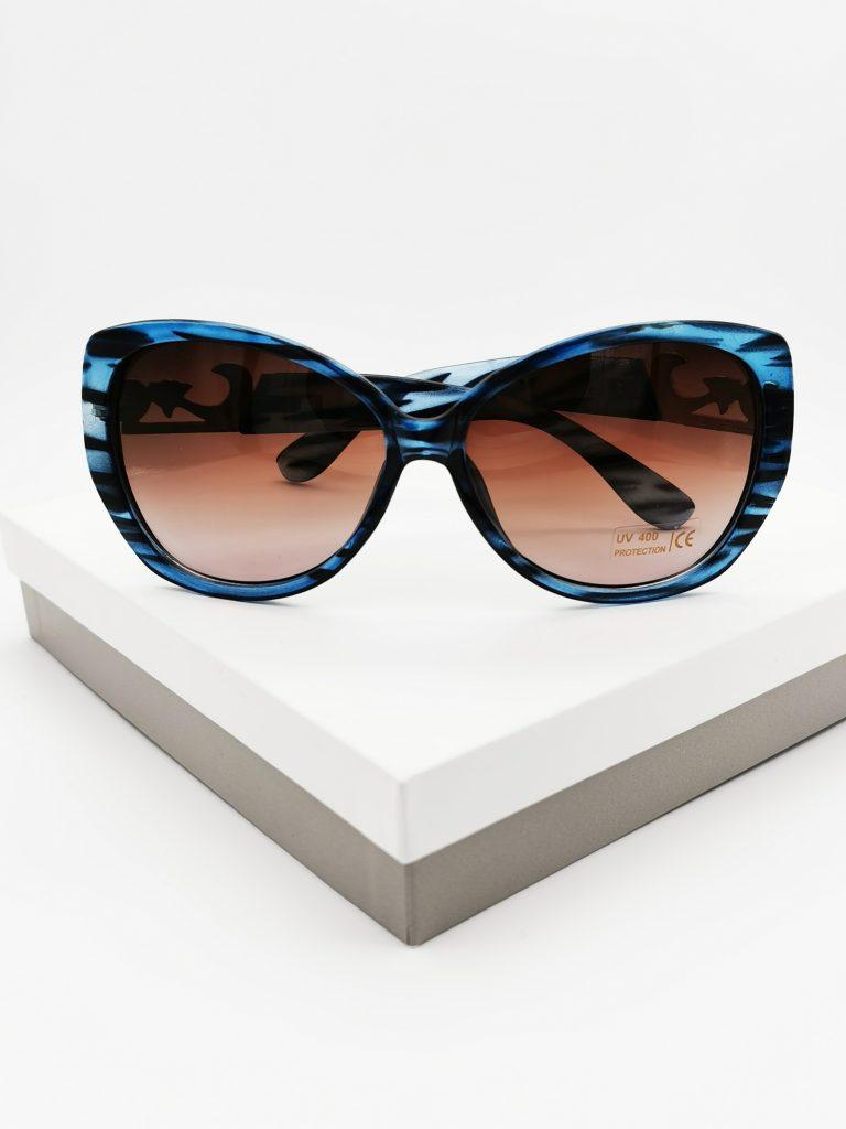 Callel Blue & Black Frame Vintage Sunglasses