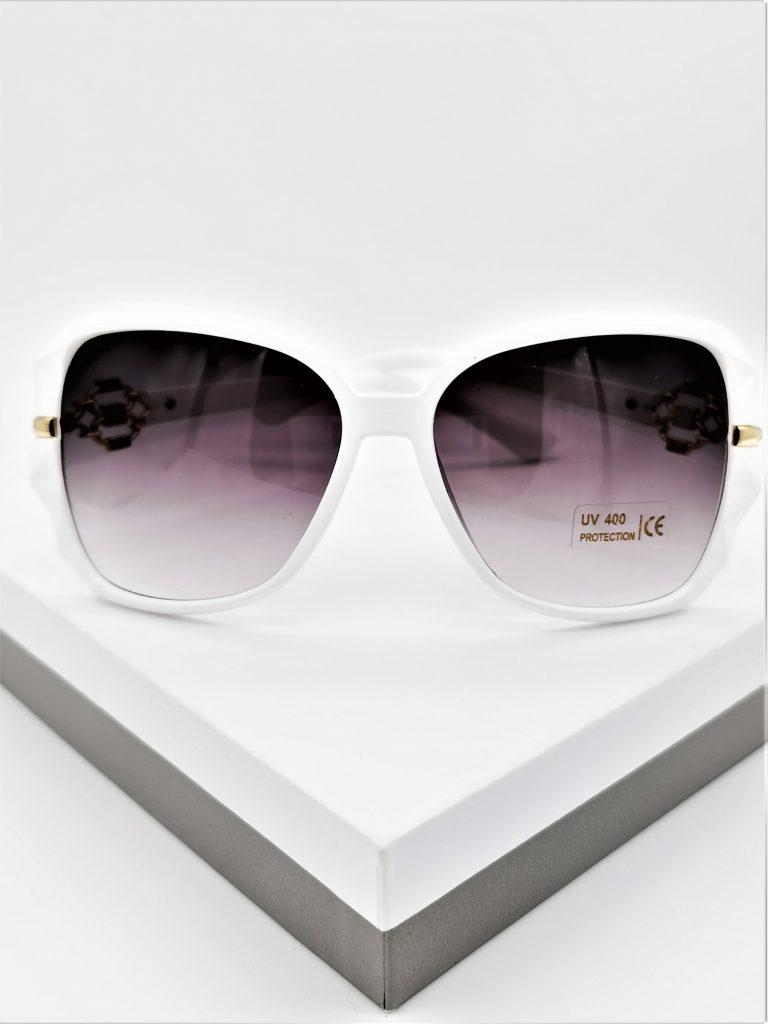 Callel White Designer Sunglasses