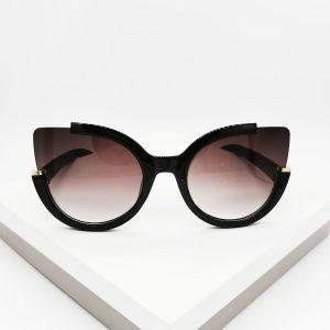 Round Circle Black Oversized Sunglasses
