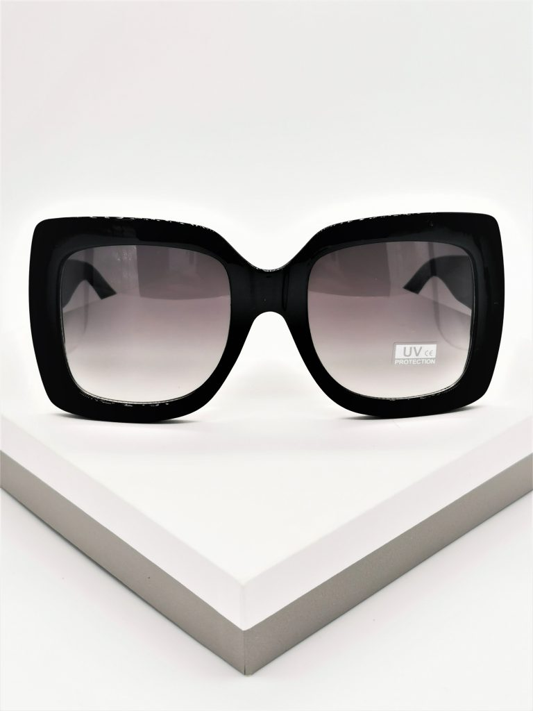 Callel Black Square Oversize Sunglasses
