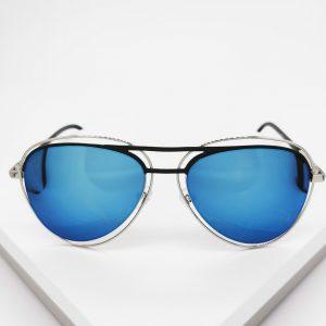 Blue Mirrored Aviator Sunglasses