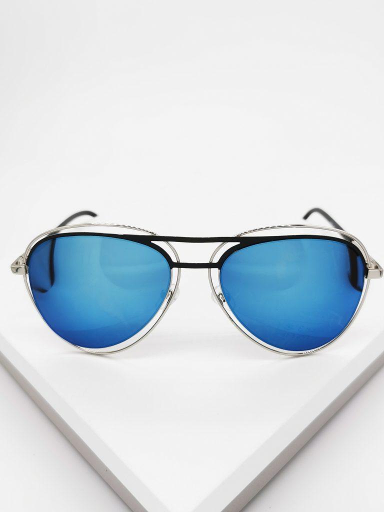 Callel Blue Mirrored Sunglasses