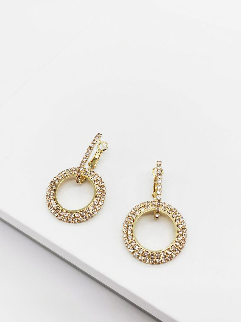 Callel Gold Double Round Huggie Earrings